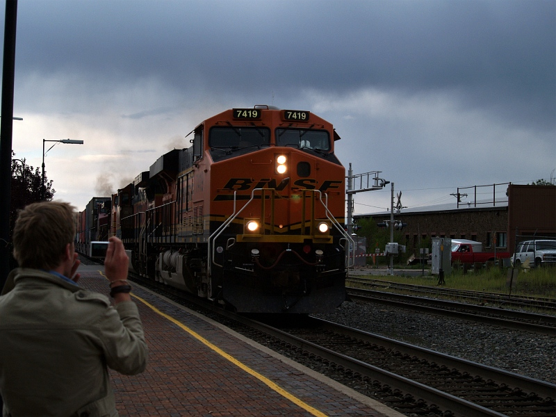 No 7419 under dark clouds