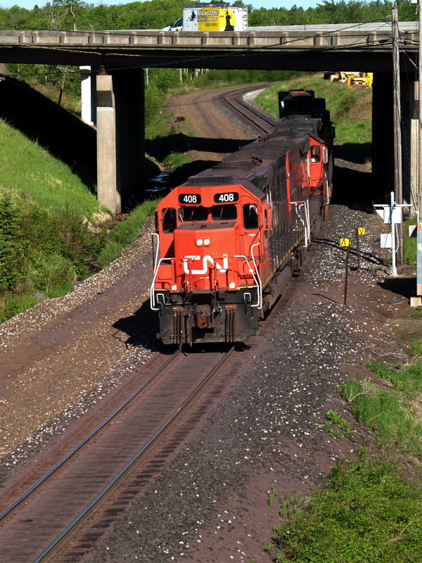 CN #408 on the down PRS